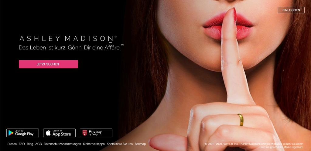 Ashley Madison Startseite