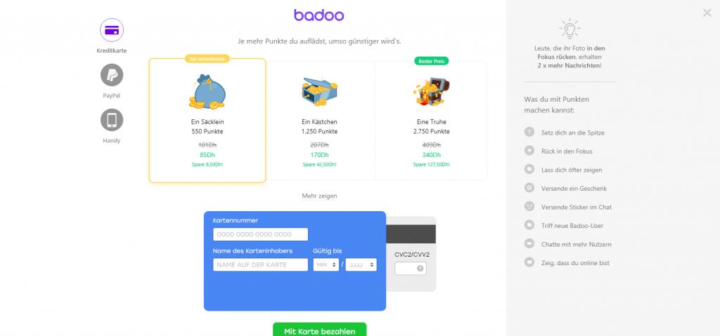 Badoo Kosten