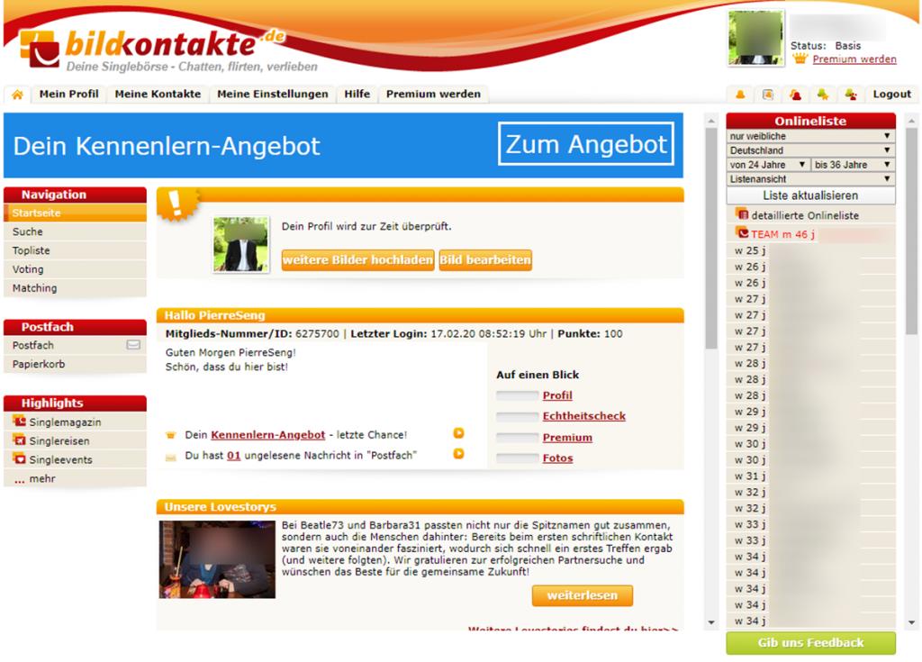 Bildkontakte Startseite